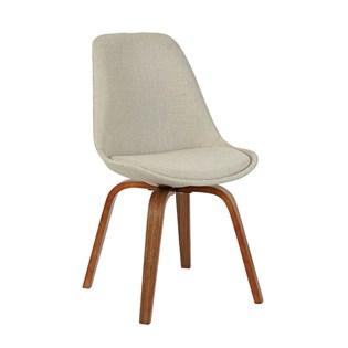 Cadeira Lis Revestida em Linho - Cor Bege