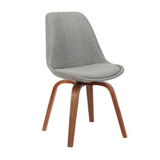 Cadeira Lis Revestida em Linho - Cor Cinza
