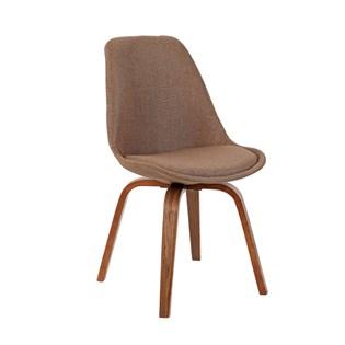 Cadeira Lis Revestida em Linho - Cor Marrom
