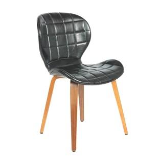 Cadeira Lucia em Couro Ecológico - Preta