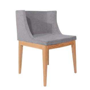 Cadeira Mademoiselle - Assento em Linho Cinza