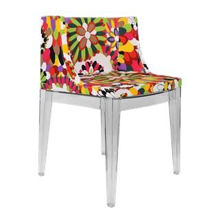 Cadeira Mademoiselle - Base Madeira Preta- Assento Floral Margarida