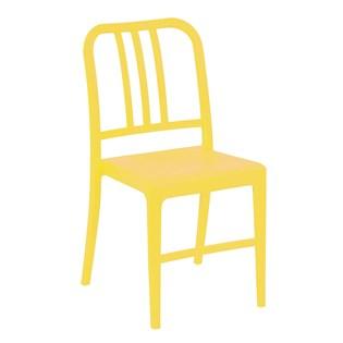 Cadeira Navy em Polipropileno - Cor Amarela