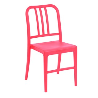 Cadeira Navy em Polipropileno - Cor Vermelha