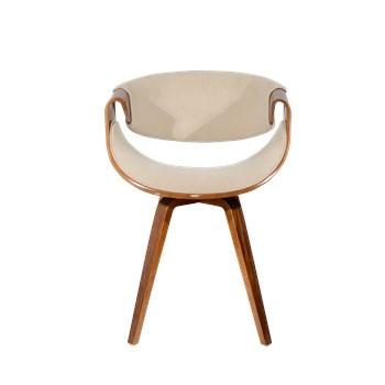Cadeira Nicole - Em Linho Cor Bege