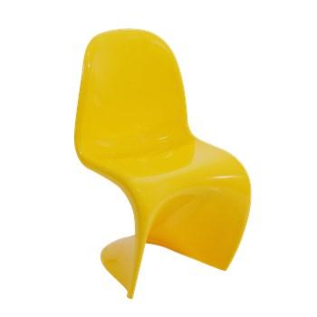 Cadeira Panton Infantil Amarela com Brilho
