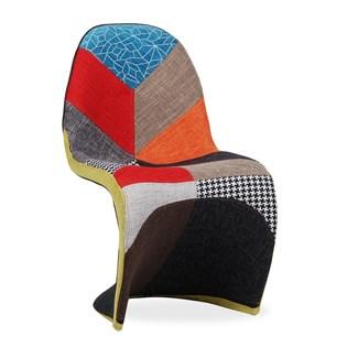 Cadeira Panton Revestida em Patchwork Colorido