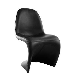 Cadeira Panton Revestida em PU - Cor Preta