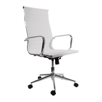 Cadeira Presidente Eames Esteira Alta - Cor Branca