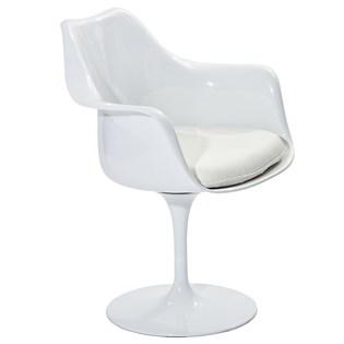 Cadeira Saarinen Tulipa Com Braços - Cor Branca - Almofada Cor Branca