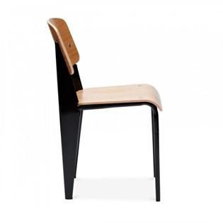 Cadeira Standard Jean Prouve - Cor Preta