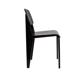 Cadeira Standard Jean Prouve - Madeira Preta - Cor Preta