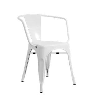 Cadeira Tolix com Braços - Cor Branca