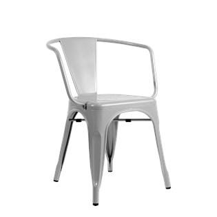 Cadeira Tolix com Braços - Cor Cinza