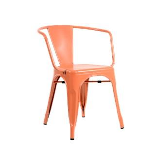 Cadeira Tolix com Braços - Cor Laranja