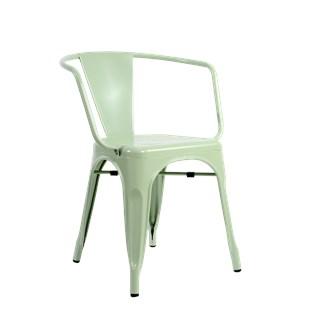Cadeira Tolix com Braços - Cor Verde Pistache