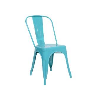 Cadeira Tolix - Cor Azul Clara