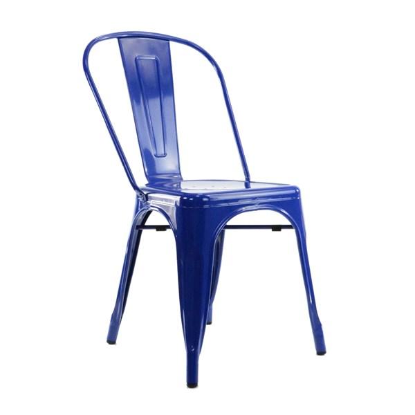 Cadeira Tolix - Cor Azul Escura