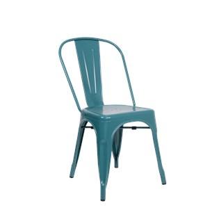 Cadeira Tolix - Cor Azul Turquesa