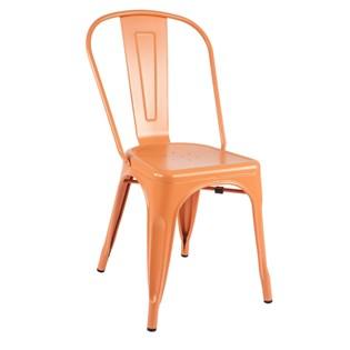 Cadeira Tolix - Cor Laranja