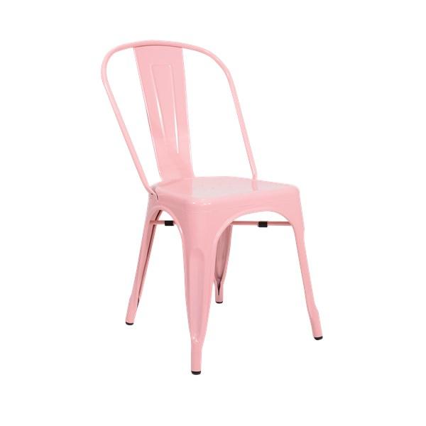 Cadeira Tolix - Cor Rosa