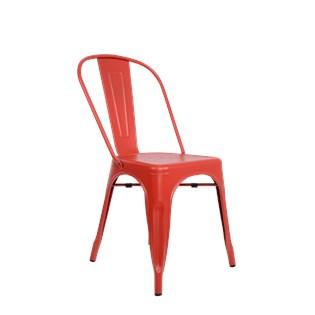 Cadeira Tolix - Cor Vermelha