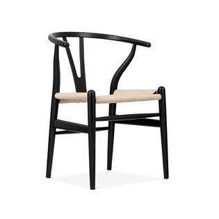 Cadeira Wishbone - Cor Preta