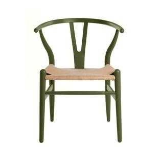 Cadeira Wishbone - Cor Verde Escuro