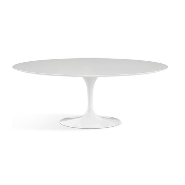 Mesa Saarinen Tulipa - Tampo Oval 180x100cm - Madeira Branca
