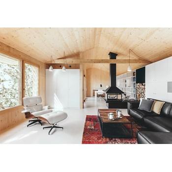 Poltrona Charles Eames com Puff - Cor Branca
